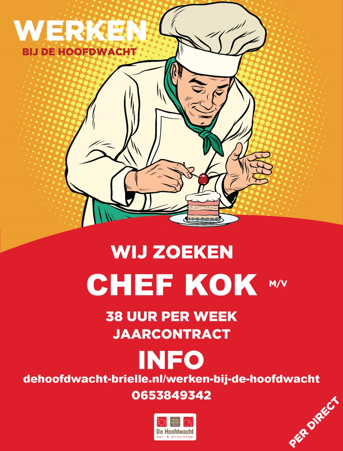 Nieuwe Vacature Chef Kok